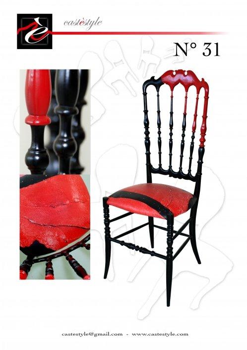 Restyling sedia Chiavarina Vintage by Mauro Manco n.31 Castèstyle