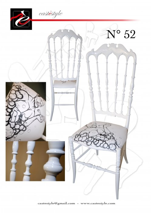 "Chiavarina vintage bianca ""Lui"" n.52- S. Lucchesi-Catalogo Castèstyle 52"