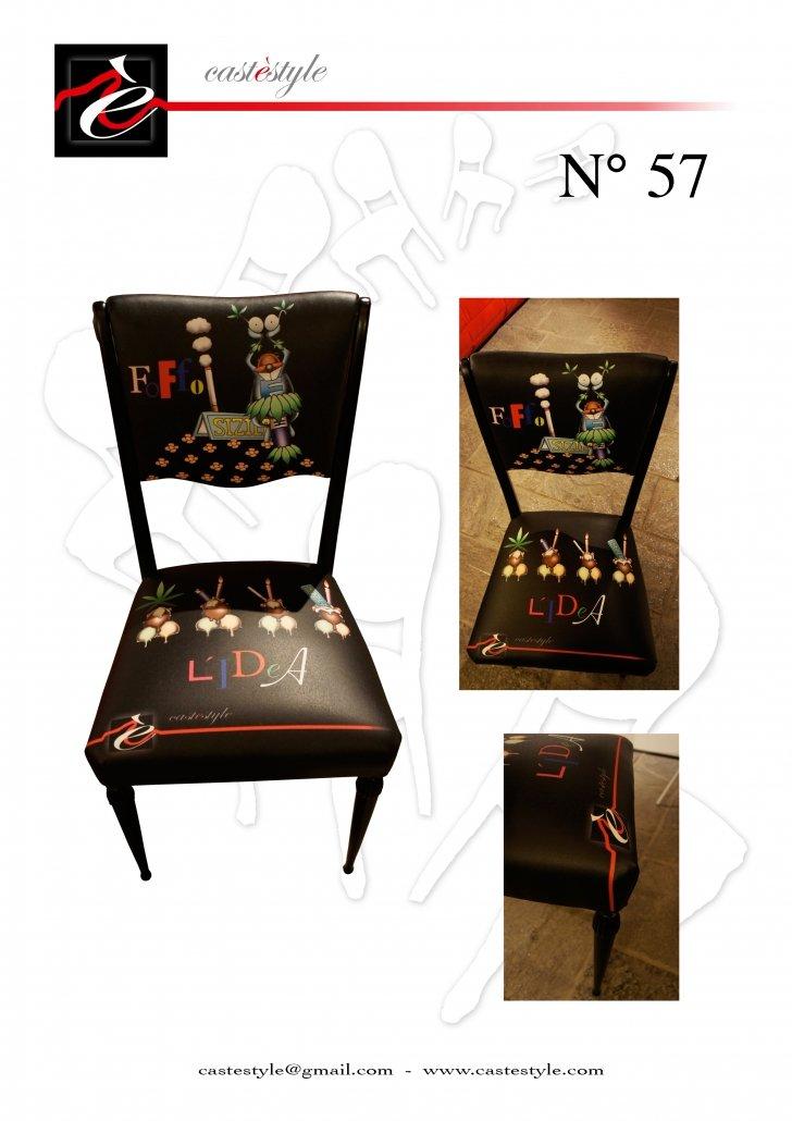 Sedia Vintage Idea Nera - n.57 Castèstyle