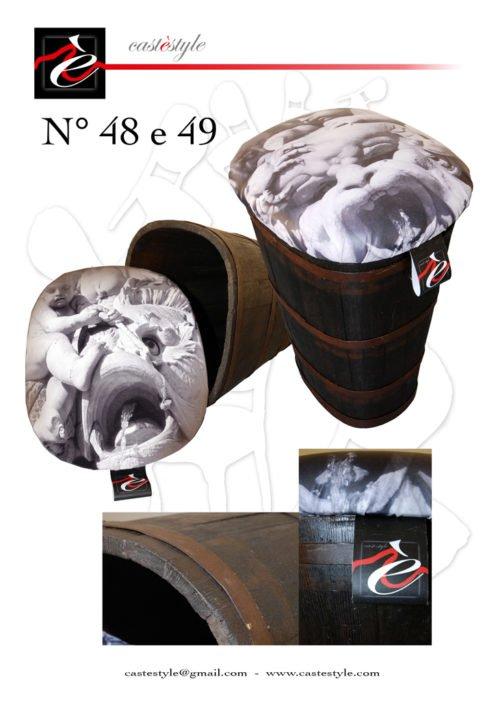 Tini dell'Uva trasformati in eleganti portabiancheria n.48/49 Catalogo Mobili d'Arte Castèstyle