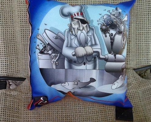 Cuscino illustrato Simone Lucchesi