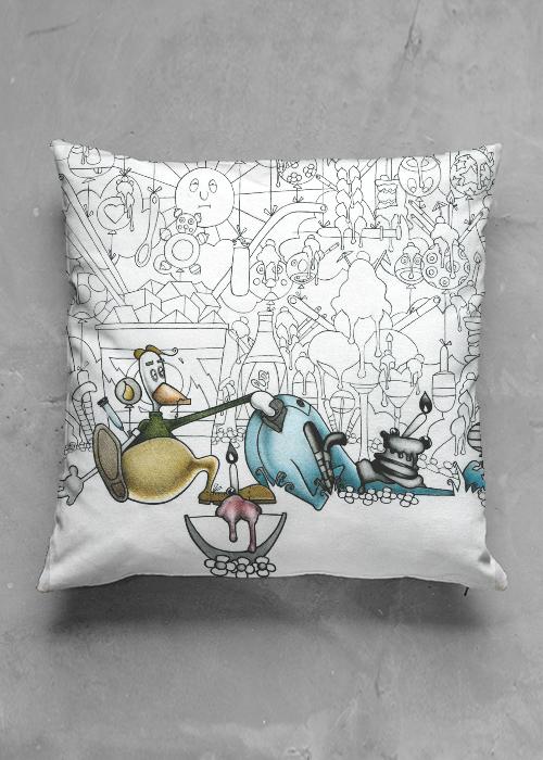 Cuscino Birichino in cotone disegnato da Lucchesi per shopvida