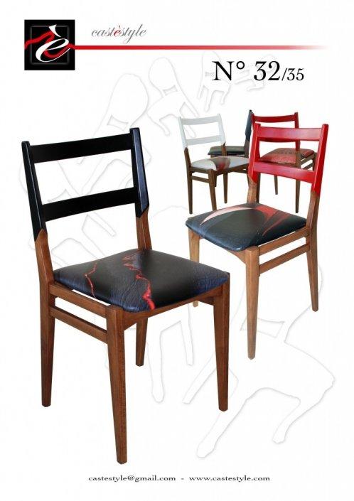 Sedie Cassina n.32/35 - Upcycling sedie di design