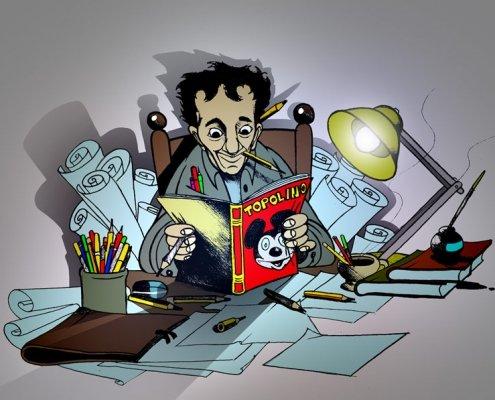 Enzo Iachetti disegnato da Lucchesi