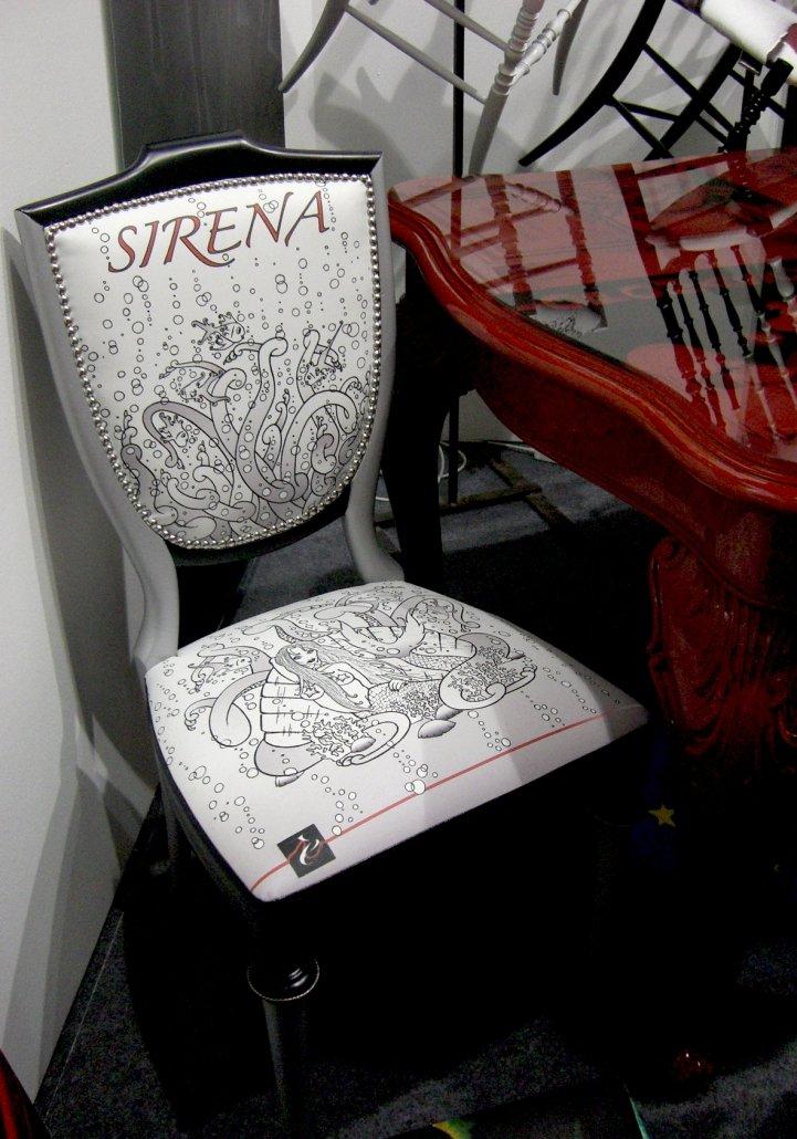 Sedia Elegante Sirena esposta al Macef 2017