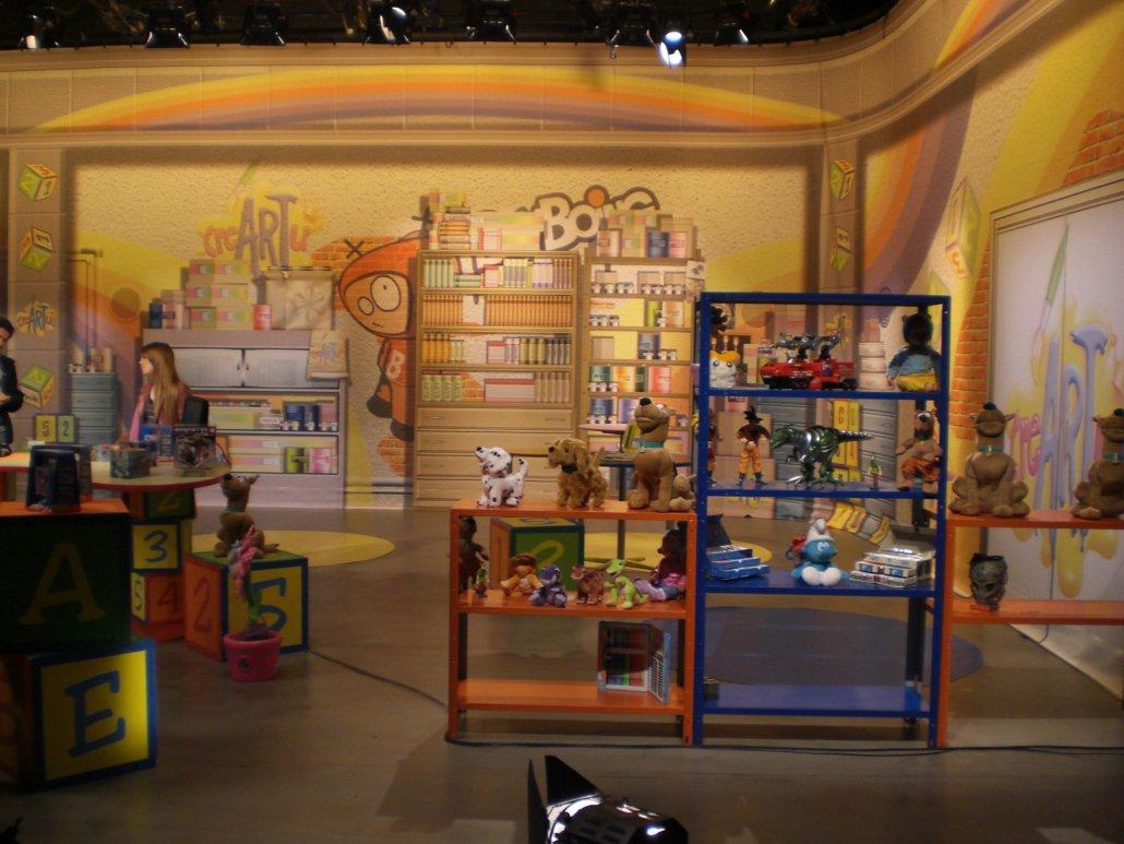 La scena Televisiva di Creartù disegnata da Simone Lucchesi