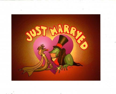 Invito alla Festa per il Matrimonio. Caricatura degli sposi