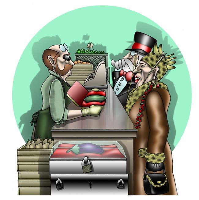 Vignette Ironiche - Il costo della verdura