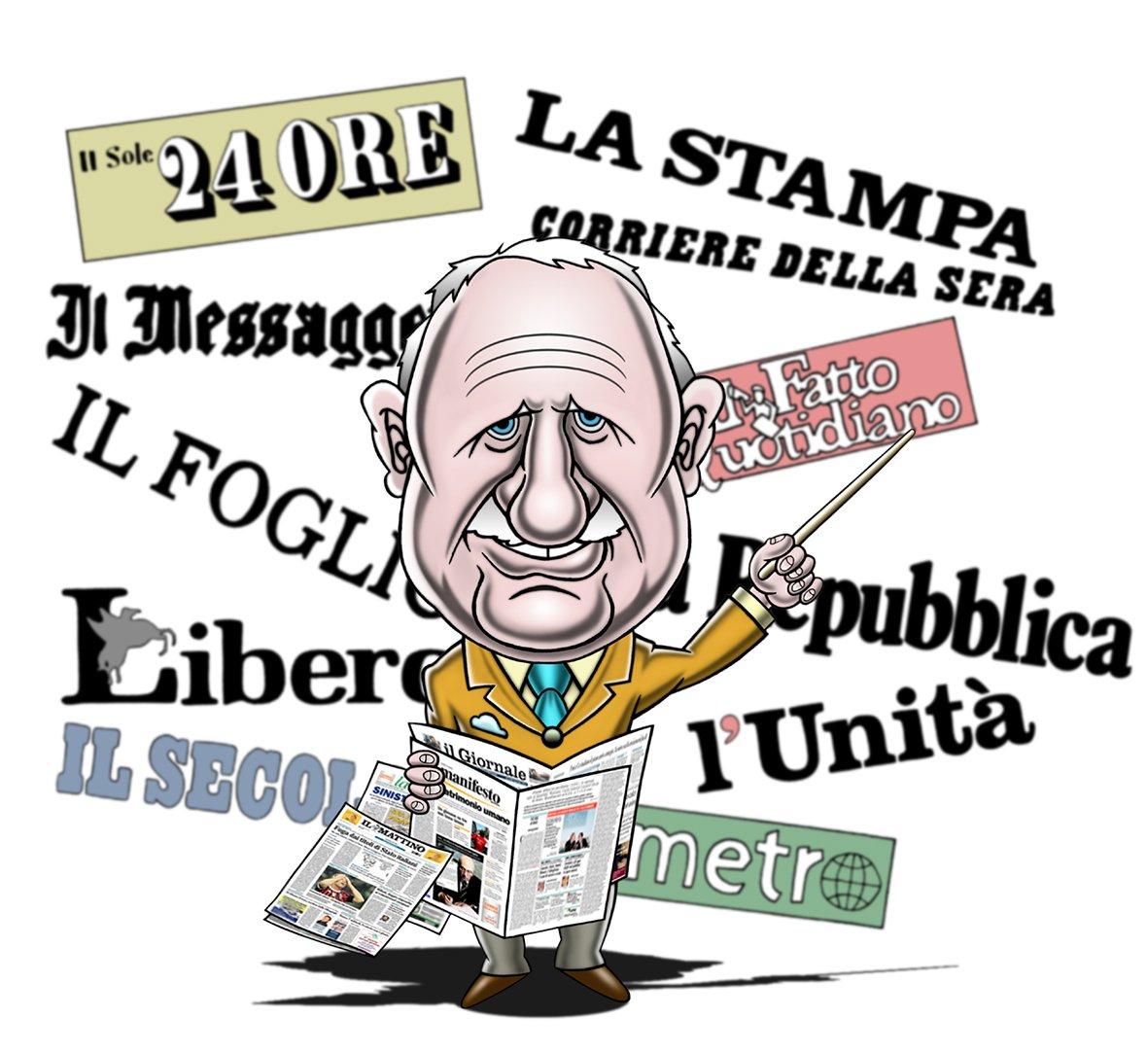 Rassegna Stampa - cartello per la Televisione- Trecca